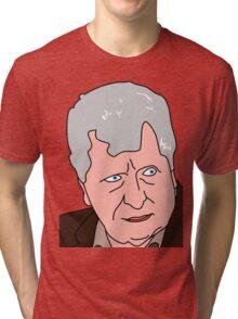 The Curator - Tom Baker Doctor Who 2 Tri-blend T-Shirt