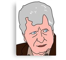 The Curator - Tom Baker Doctor Who 2 Canvas Print