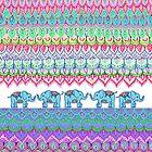 Tiny Circus Elephants by micklyn