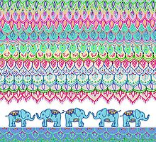 Tiny Circus Elephants by micklyn