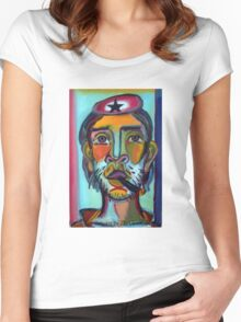 Che Guevara por Diego Manuel Women's Fitted Scoop T-Shirt