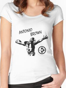 Antonio Brown - Pittsburgh Steelers Women's Fitted Scoop T-Shirt