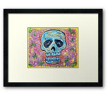 Marble Skull Framed Print