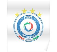 World Cup Football 2/8 - Team Italia (distressed) Poster