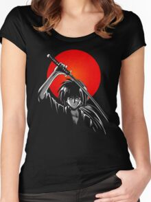 moon of battousai Women's Fitted Scoop T-Shirt