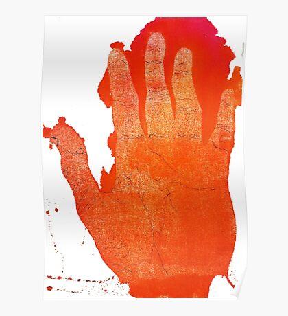 Detailed Orange Hand Poster