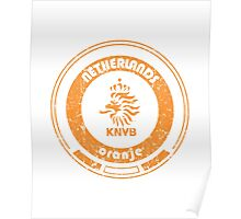 World Cup Football - Team Netherlands (distressed) Poster
