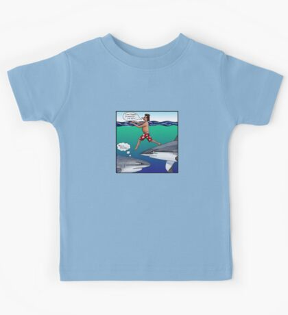 Chickens and Sharks Kids Tee