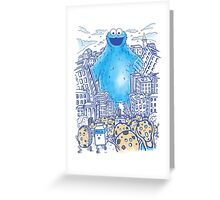 Moster In The City Greeting Card