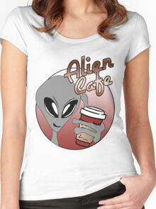 Alien Cafe Women's Fitted Scoop T-Shirt