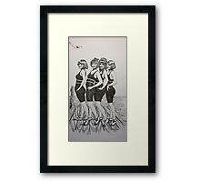 Bathing Bells Framed Print