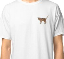 Cute fuzzy ginger cat Classic T-Shirt