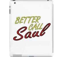 Better Call Saul Breaking Bad TV Series Saul Goodman Quotes iPad Case/Skin