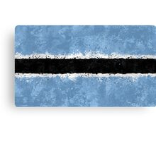 Botswana Flag Grunge Canvas Print