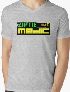 ZIP TIE medic (1) Mens V-Neck T-Shirt