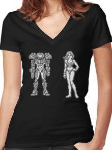 Metroid II - Return of Samus T-shirt Women's Fitted V-Neck T-Shirt