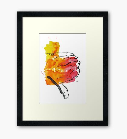 Thumbs Down Framed Print