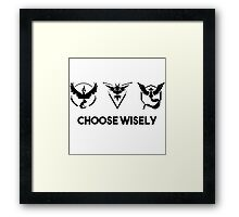 pokemon go - choose wisely Framed Print