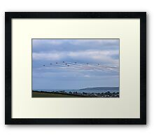 The Red Arrows Falmouth Week 2016 Framed Print