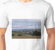 Red Arrows Over Falmouth Cornwall Unisex T-Shirt