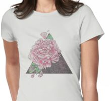 Pink Peony Floral Study, Illustrative Design Womens Fitted T-Shirt