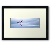 The Red Arrows Panorama Framed Print