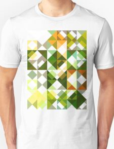 Cactus Garden Abstract Triangles 1 Unisex T-Shirt