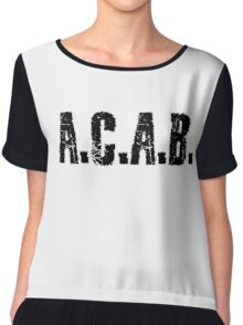 All Cops Are Bastards Quote  Chiffon Top