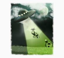 Comical UFO Cow Abduction Unisex T-Shirt