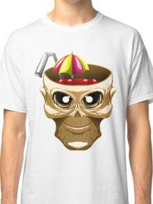 skull fruit punch funny vector art yummy brain juice Classic T-Shirt