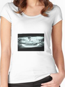 Disturbed water Women's Fitted Scoop T-Shirt