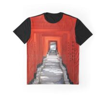 Orange Torii gates at Hie Jinja Shrine in Tokyo, Japan Graphic T-Shirt