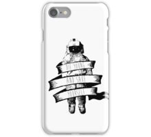 ribbon wrapped astronaut quote iPhone Case/Skin