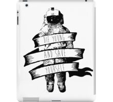 ribbon wrapped astronaut quote iPad Case/Skin