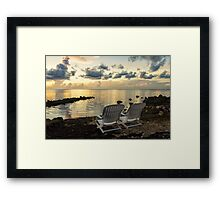 Good Morning World Framed Print