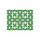 Green Damask Pattern by Toby Davis