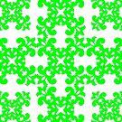 Lime Damask Pattern by Toby Davis