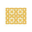 Orange Damask Pattern by Toby Davis