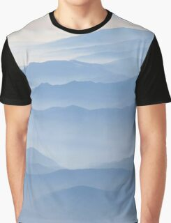 Blue misty mountains  Graphic T-Shirt