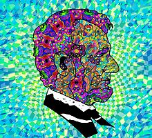 Psychedelic LSD Trip Abraham Lincoln by Andrei Verner