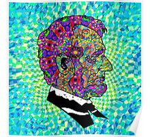 Psychedelic LSD Trip Abraham Lincoln Poster