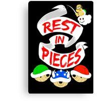 RIP Mario Kart Shells Canvas Print