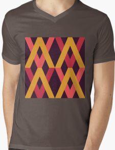 Color Block Autumn Palette Mens V-Neck T-Shirt
