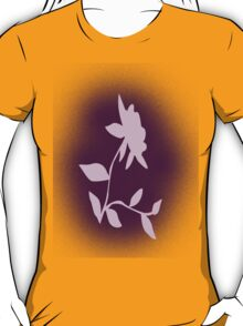 Flower silhouette in pink T-Shirt