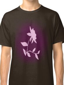 Flower silhouette in pink Classic T-Shirt