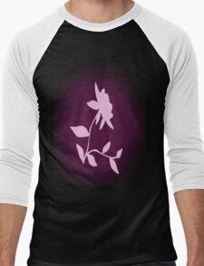 Flower silhouette in pink Men's Baseball ¾ T-Shirt