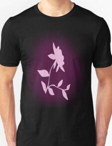 Flower silhouette in pink Unisex T-Shirt