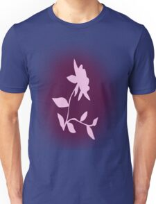 Flower silhouette in pink Unisex T-Shirt