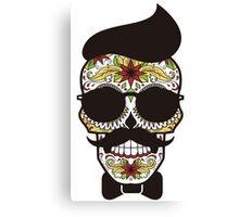 Funny Sugar Skull Canvas Print