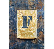 Letter F Photographic Print